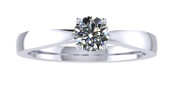 ER101-50 Brilliant Cut Diamond Solitaire Engagement Ring col H 0.25ct