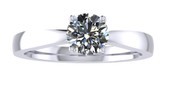 ER101-60 Brilliant Cut Diamond Solitaire Engagement Ring col H 0.35ct