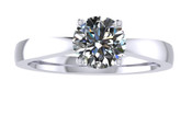 ER101-70 Brilliant Cut Diamond Solitaire Engagement Ring col H 0.50ct