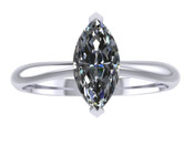 ER104-70 Marquise Cut Diamond Solitaire Engagement Ring col H 0.5ct