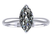 ER104-80 Marquise Cut Diamond Solitaire Engagement Ring col H 0.75ct
