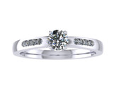 ER112-50 Diamond Cluster Engagement Ring col H SI 0.33ct