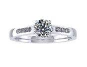 ER112-60 Brilliant Cut Diamond Engagement Ring col H TW 0.43ct