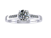 ER112-70 Brilliant Cut Diamond Engagement Ring col H TW 0.58ct
