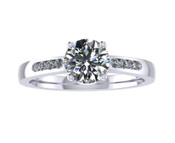 ER012-80 Brilliant Cut Diamond Engagement Ring col G TW 0.83ct