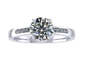 ER112-90 Brilliant Cut Diamond Engagement Ring col H TW 1.08ct