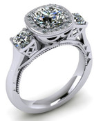 ER120-70 Brilliant Cut Diamond Engagement Ring col H TW 0.58ct