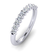 ETG100 3mm Claw Set Brilliant Cut Diamond Eternity Ring 55pts