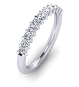 ETG100ZI 3mm Claw Set Brilliant Cut Swiss Cubic Zirconium Eternity Ring
