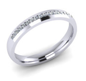 ETG102 3mm Channel Set Brilliant Cut Diamond Eternity Ring 20pts