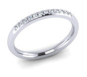 ETG119 2mm Pave Set Brilliant Cut Diamond Eternity Ring 12pts