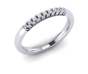 ETG124 2mm Claw Set Brilliant Cut Diamond Eternity Ring 9pts