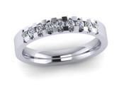 ETG134 3mm Low Claw Set Brilliant Cut Diamond Eternity Ring 22pts
