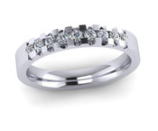 ETG134ZI 3mm Low Claw Set Brilliant Cut Swiss Cubic Zirconium Eternity Ring