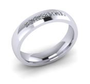 ER021-90 3mm Channel Set Princess Cut Diamond Eternity Ring 35pts