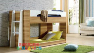 Beechmont Low Line Bunk Bed is a great option for space saving with younger kids. Available in Oak/White as per picture. Single Only. Ladder can go at either end of the bed.