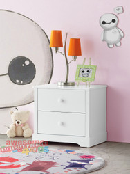 1. Louis Bedside Table - White