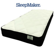 "Sleepmaker Brand ""Just Sleep"". Smooth Top Design, Continuous Spring, Medium Comfort Layers, Climatex Quilt and a 5 Year Warranty. 230mm Depth."