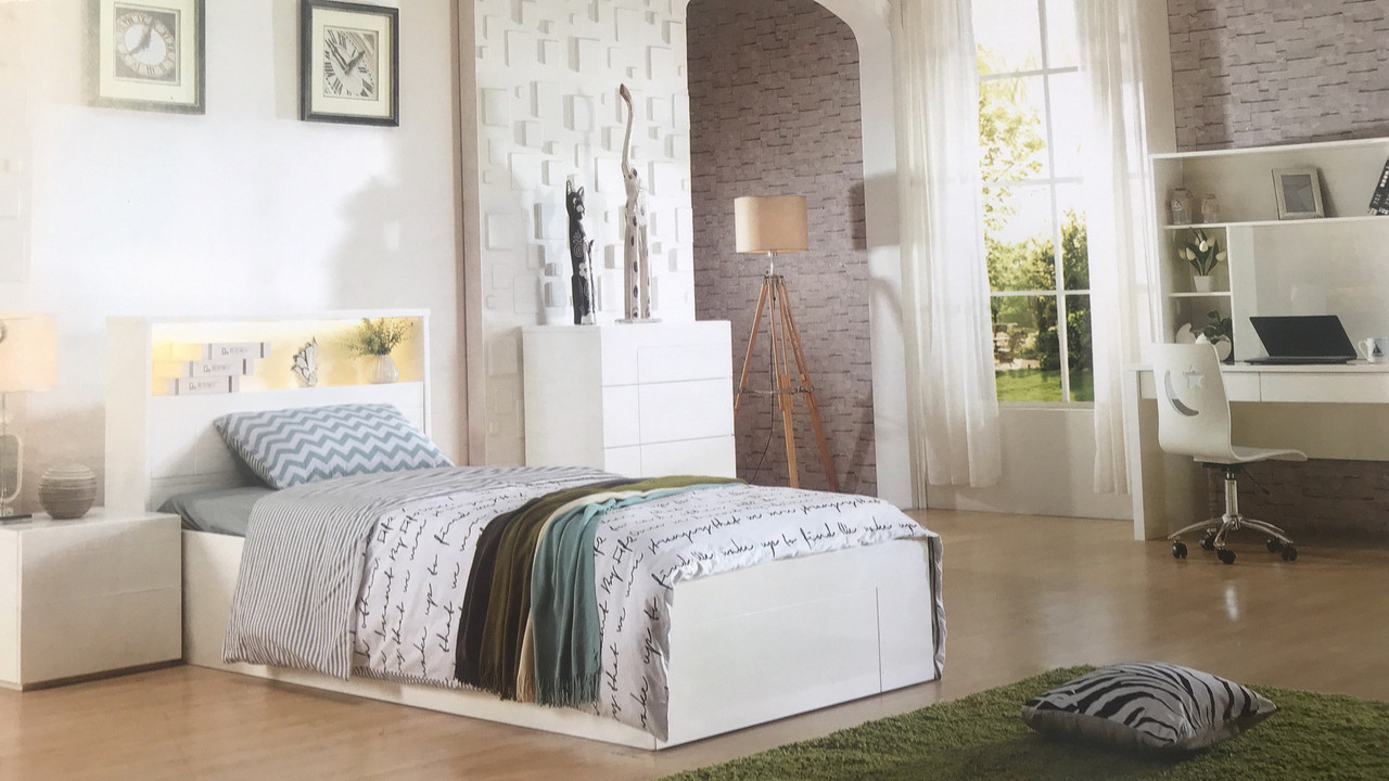 The Stradbroke Bed Frame is the perfect addition to any kids bedroom. The simple, yet elegant, design of the Stradbroke hides the amount of storage that is actually available in this bed.
