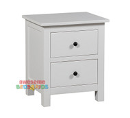 The Panama Bedside is a modern two drawer bedside that will complete any bedroom with black handles. The Panama Bedside will suit any white themed bedroom.