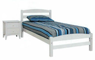Sammy Bed Frame made from pine offers great value! White or Blue/White