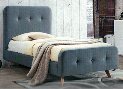 Bondi Upholstered Bed Frame is a contemporary bed frame which would look great in any kids bedroom or spare room.