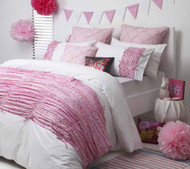 Maisie Pink Queen Quilt Cover By Logan & Mason