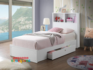 Tosca Single Bed with Under Bed Drawer White