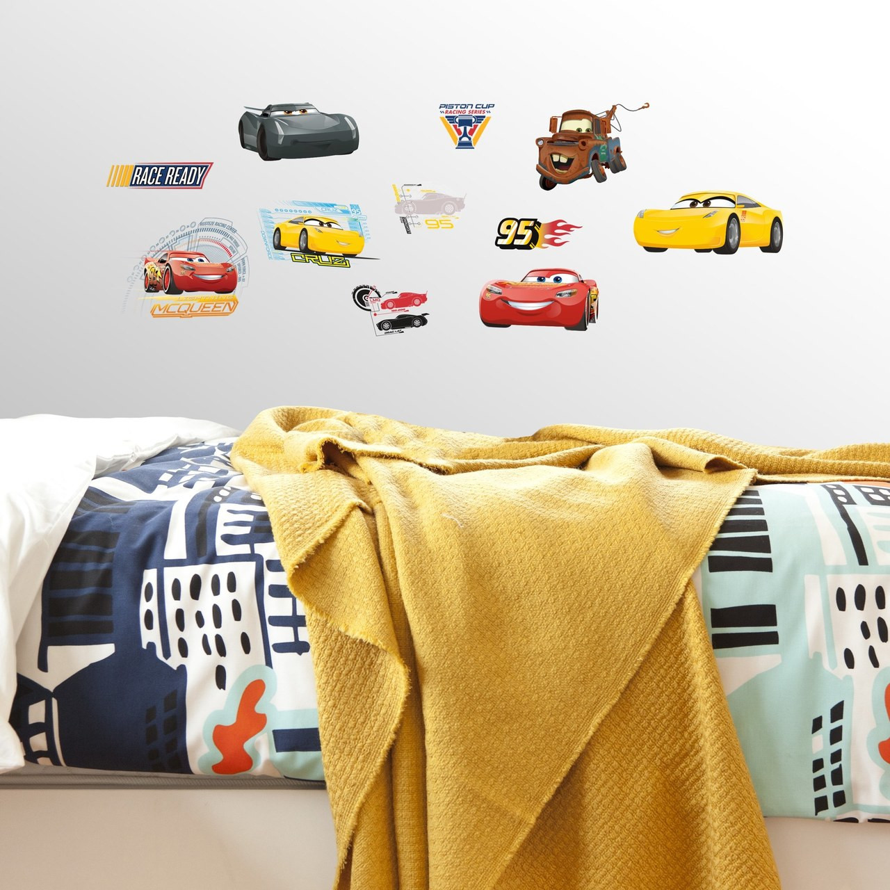 Get race ready with Disney∙Pixar Cars 3 Peel and Stick Wall Decals.