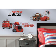 Give your walls a tune up with these Disney∙Pixar Cars Friends to the Finish wall decals!