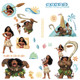 Bring spirit to walls with this decal variety pack inspired by the adventures of Disney Moana.