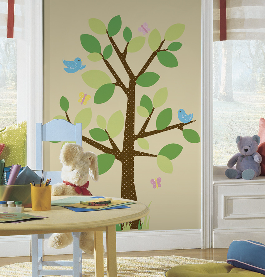 dotted tree giant wall decal | nursery decals | girls decals | boys