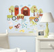Bring a barnyard scene into any nursery or bedroom with these colorful and loving farm animals.