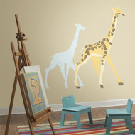 Add modern style to nursery walls with DwellStudio Giraffe Giant Wall Decals.
