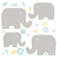 Bring classy decor to nursery walls with DwellStudio Elephants Giant Wall Decals.
