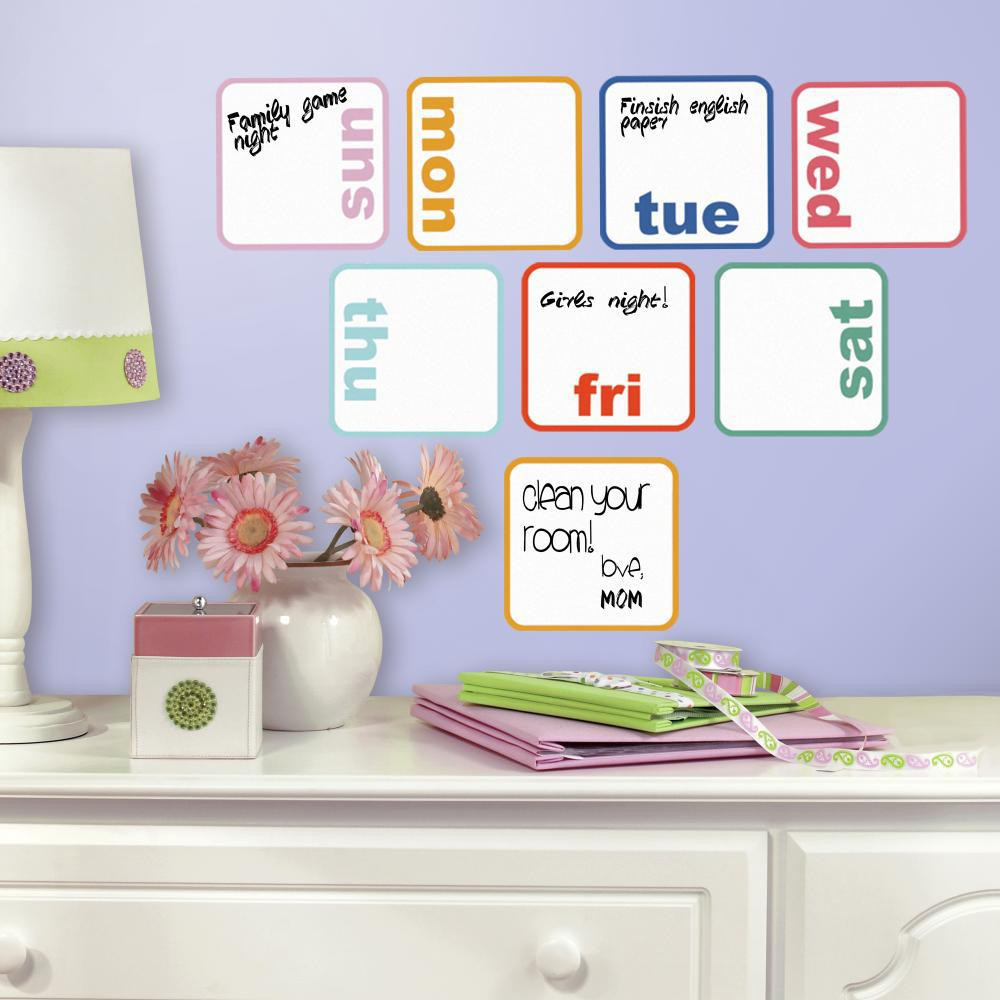Start your week off on the right foot with our Days Of The Week Planner Dry Erase Wall Decals.