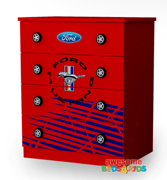 Ford Mustang Tallboy completes your child's bedroom Ford Mustang car theme.