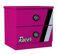 Girl Racer Bedside Table Pink