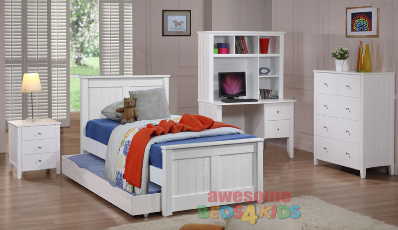 Cody Trundle Bed White Trundle Bed Single White Bed