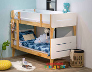 1. Illuka Bunk  Single or King Single White