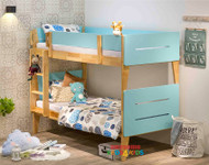 1. Illuka Bunk Bed Single  Tiffany Blue