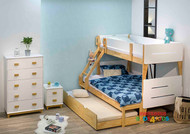 Illuka Bunk Bed Single Over Double White or Tiffany Blue