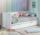 Crystal Daybed with Single Trundle is beautifully made with solid bed heads. This is a very popular model for a first bed. The crystal day bed is ideal when transitioning from out of the cot for extra safety.