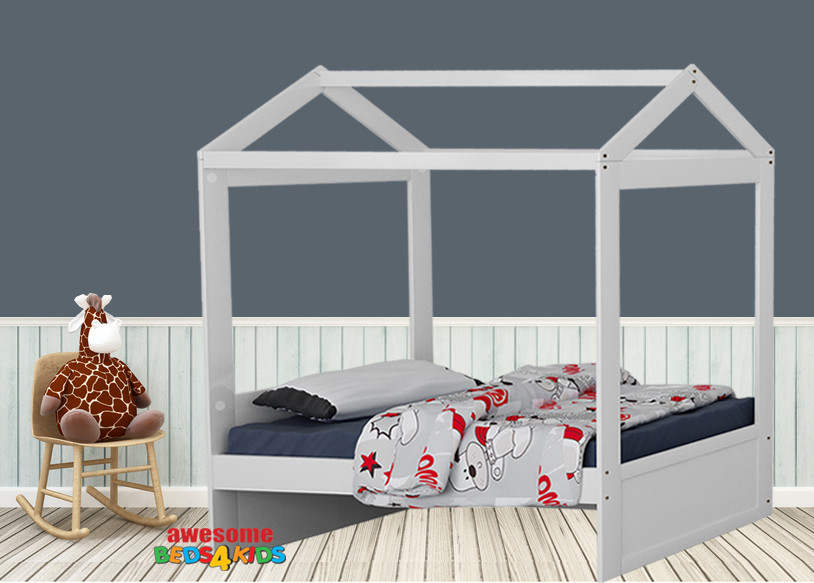 Let your kids imagination run wild with our Fairview House Bed. Perfect for girls and boys to make up thier own theme or simply keep it beautifully simplistic.