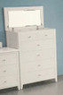 5 Drawer Tallboy with Open Top and Mirror