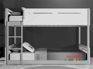 Kelso Single Low Line Bunk White with Grey
