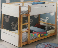 Kelso Single Low Bunk Bed with Natural Timber Frame is a great option for space saving with younger kids. Single Only.