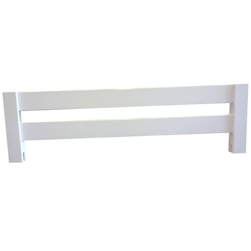 Safety Rail simply slides over the beds side rail and can on either side. Safety Rail is great for extra safety if your child is just starting out in his or hers first bed.