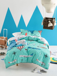 Fly With Me Quilt Cover Set Hiccups For Kids