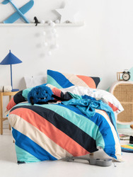 Im With The Band Blue Quilt Cover Set Hiccups For Kids